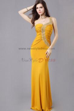 2014 Latest Fashion khaki Waist With Glass Drill Elegant prom dress np-0346