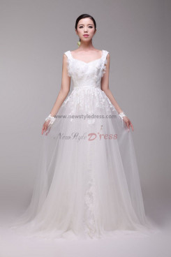 Latest Fashion lace flower Vest A-Line Glamorous Wedding Dresses nw-0172