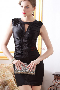 2019 New Arrival balck Jewel Sheath Sexy short prom dress nm-0220