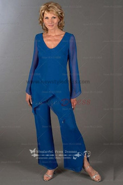 Fashion Cheap Tiered Loose Mother's pants suit nmo-106