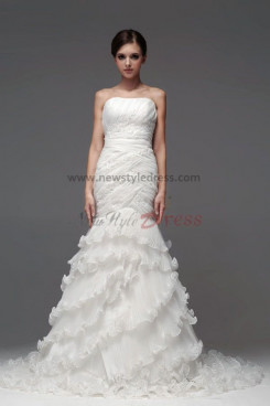 New Style Mermaid Ruffles Tiered Wedding Dresses nw-0114