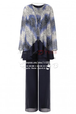 Latest Fashion Pattern Spring Loose mother of the bride pant suit