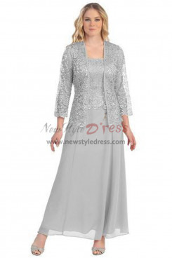 2019 Dressy Gray Mother of the bride dresses with Jacket nmo-328