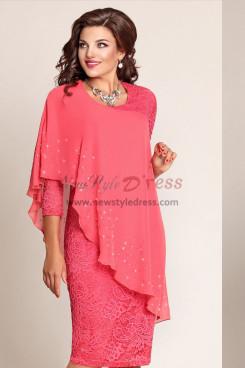Plus Size Watermelon Lace Mother Of The Bride Dresses nmo-591