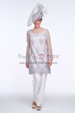 2020 new style Gray Mother of the bride pant suit dresses nmo-435