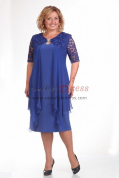 2019 Spring Modern Plus Size Royal Blue Mother Of The Bride Dresses nmo-595