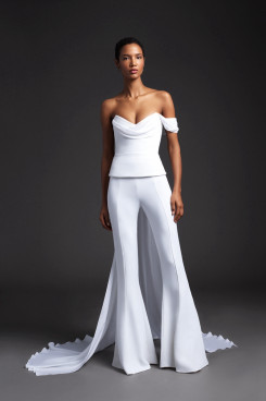Fashion Off the Shoulder Wedding Outfits Dressy Prom Jumpsuits wps-208