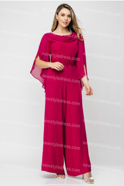 2020 Hot Sale Rose Red Mother of the bride pants suits Women jumpsuits nmo-676