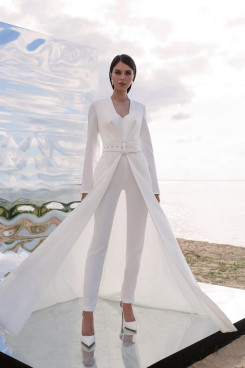 Modern Wedding Jumpsuits Disassemble 2 Kinds Methods of Wears Bride Suits Dress wps-222