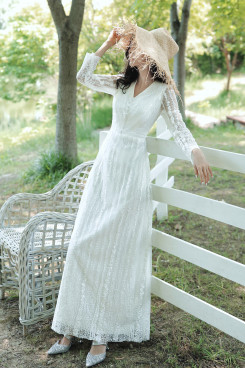 2021 Elegant V-neck Women's Dress, Fashion Long Sleeve Lace Autumn Dresses cso-010