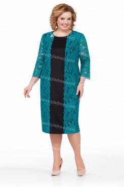 2021 Fashion Greenblack Hunter Lace Mother Of the Bride Dresses,Plus Size Women's Dresses nmo-727-2