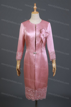 2021 Fashion Watermelon Mother Of The Bride Dresses,Mother Of The Bride Outfits With Jacket nmo-737