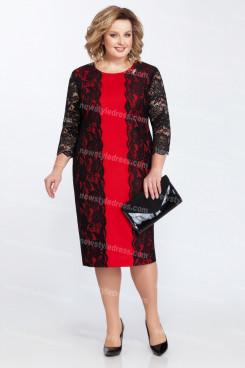 2021 Plus Size Mother Of The Bride Dress Fashion Mid-Calf Women's Dresses nmo-727-4