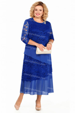 2021 Plus Size Royal Blue Ankle-Length Mother Of The Bride Dresses nmo-729-3
