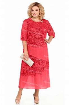 2021 Watermelon Mother Of The Bride Dress Mid-Calf Plus Size Women's Dress nmo-729-5