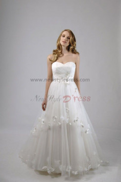 A-Line Modern Tiered Sweetheart Elegant Wedding Dress nw-0293