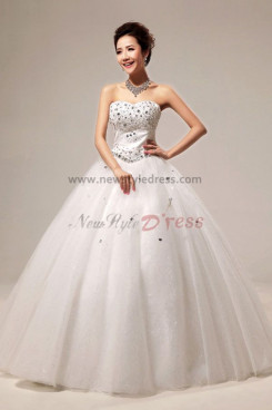 Sweetheart Ball Gown Wedding Dresses Chest With Glass Drill nw-0079