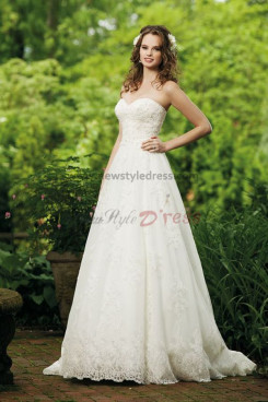 Cheap a line lace Pattern Elegant Good comment wedding dress nw-0234