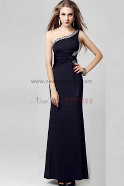 Chest With beading Oblique band Ankle-Length Glamorous Sexy prom dresses np-0313