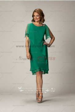 Elegant mother of the bride dress for the beach wedding Dark Green Chiffon cms-060