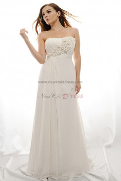 Empire Summer Simple Beach wedding dress nw-0271