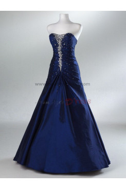 Floor-Length A-Line Taffeta Glamorous Purple and Navy Chest with beading Evening dresses np-0089