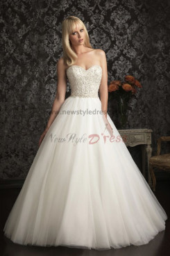 Gorgeous a line Multilayer tulle cheat Beaded Princess wedding dress nw-0259