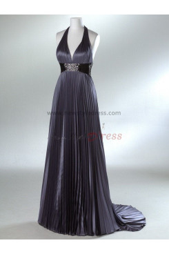 Halter Sweetheart Taffeta Sheath Gorgeous Rose Red or Silver Sheath Chest with pleats Evening dresses np-0042