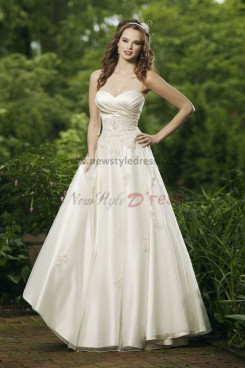 Hot Sale Cheap Floor-Length Spring lovely Waist wedding dress Waist With Beaded nw-0240
