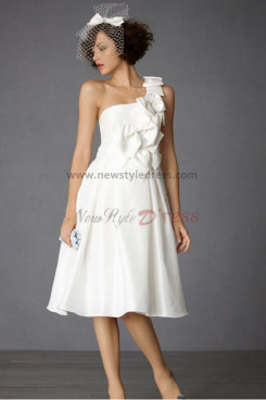 lovely wedding dress Knee-Length One Shoulder lovely nw-0276