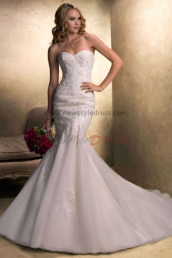 Sweep Train Mermaid lace Elegant Sweetheart Cheap wedding dresses nw-0189