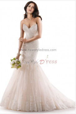 Sweetheart Mermaid lace Sheath Glamorous under 200 wedding dresses nw-0182