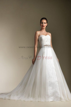 Modern Princess Multilayer Dressy Sweep Train wedding dress nw-0305