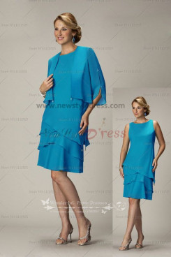 Ocean Blue Tiered Informal Package buttocks mother's dress cms-052