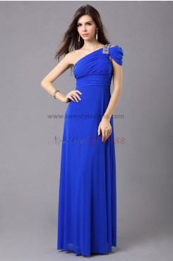 balck Oblique band with Glass Drill Empire Elegant prom dress np-0352