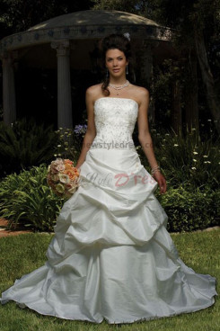 Sweep Train Ruched Chest Appliques Good comment Elegant wedding dress nw-0213