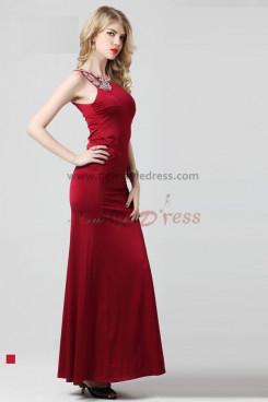Scarlet One Shoulder Crystal Beading Sheath Mid-Calf evening dresses np-0274