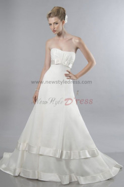 Simple Layered A-Line Glamorous Fashion wedding dress nw-0291