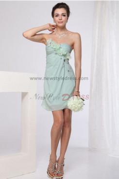 Strapless flower Short Homecoming Dresses Under 100 np-0186
