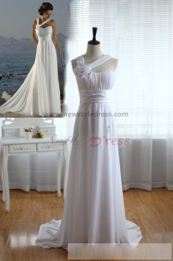 Summer Empire Chiffon Beach Cheap Glamorous Wedding Dress nw-0279