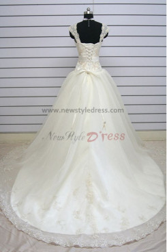 Ball Gown Tank Appliques Sweep Train under 200 Discount wedding dresses nw-0137