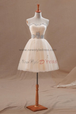Sweetheart Champagne Chest Hand beading Hot Sale Homecoming Dresses nm-0204
