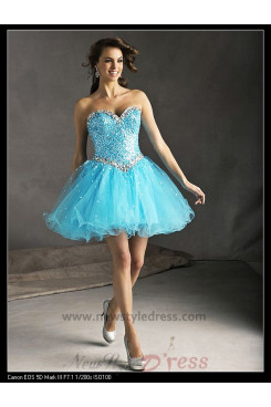 Sweetheart Fuchsia Tulle Chest With Crystal and Sequins Homecoming Dress nm-0276