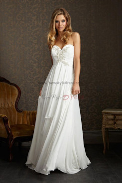 Sweetheart Sashes With Glass Drill Chiffon Glamorous wedding dress nw-0274