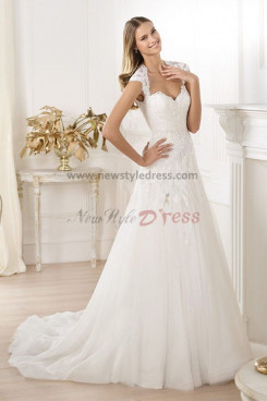 Sweetheart a-line Spring Chapel Train lace Gorgeous wedding dresses under 200 nw-0152
