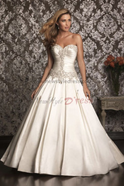 Sweetheart a line Hand Beading Classic Good comment wedding dress nw-0261