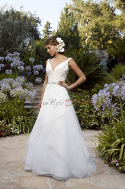 a-line Sweetheart Chest Appliques Cheap Informal wedding dress nw-0211