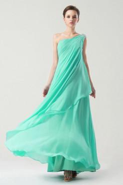 aqua Bateau long One Shoulder Cheap Prom Dresses np-0268