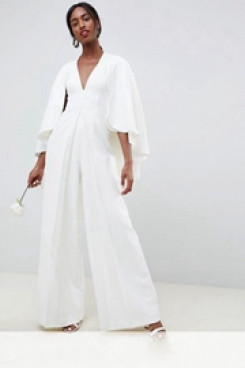 e58a42e89b63 length Sleeves Bridal Jumpsuits dresses With Cape wps-133