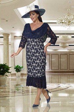 Beautiful Plus size Mother of the bride lace dress Mermaid NMO-630